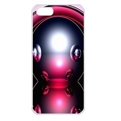 Red 3d  Computer Work Apple iPhone 5 Seamless Case (White)