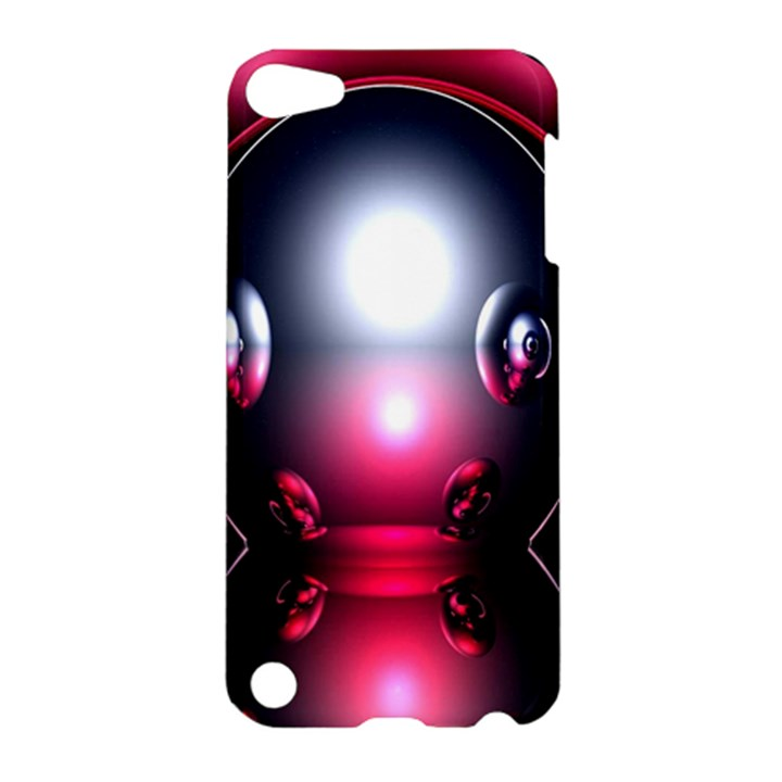 Red 3d  Computer Work Apple iPod Touch 5 Hardshell Case