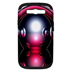 Red 3d  Computer Work Samsung Galaxy S III Hardshell Case (PC+Silicone)