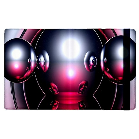 Red 3d  Computer Work Apple iPad 2 Flip Case