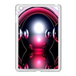 Red 3d  Computer Work Apple iPad Mini Case (White) Front
