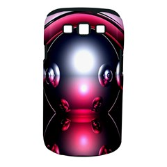 Red 3d  Computer Work Samsung Galaxy S III Classic Hardshell Case (PC+Silicone)