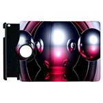 Red 3d  Computer Work Apple iPad 2 Flip 360 Case Front