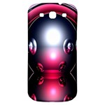 Red 3d  Computer Work Samsung Galaxy S3 S III Classic Hardshell Back Case Front