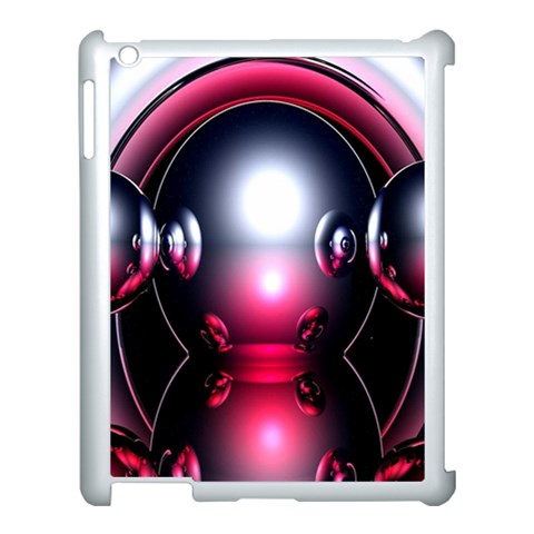 Red 3d  Computer Work Apple iPad 3/4 Case (White)