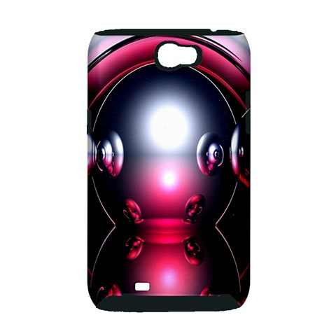 Red 3d  Computer Work Samsung Galaxy Note 2 Hardshell Case (PC+Silicone)