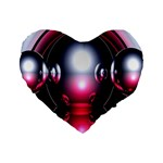 Red 3d  Computer Work Standard 16  Premium Heart Shape Cushions Front