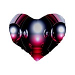 Red 3d  Computer Work Standard 16  Premium Heart Shape Cushions Back