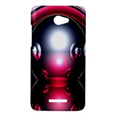 Red 3d  Computer Work HTC Butterfly X920E Hardshell Case