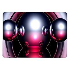 Red 3d  Computer Work Samsung Galaxy Tab 10.1  P7500 Flip Case