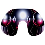 Red 3d  Computer Work Travel Neck Pillows Front