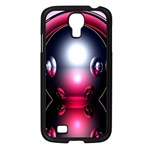 Red 3d  Computer Work Samsung Galaxy S4 I9500/ I9505 Case (Black) Front