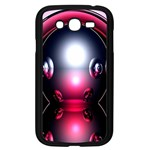 Red 3d  Computer Work Samsung Galaxy Grand DUOS I9082 Case (Black) Front