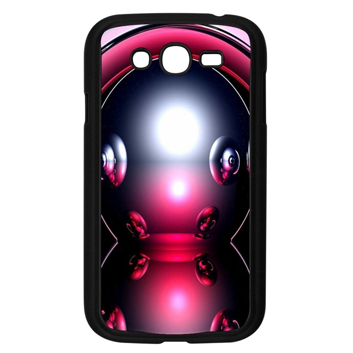 Red 3d  Computer Work Samsung Galaxy Grand DUOS I9082 Case (Black)