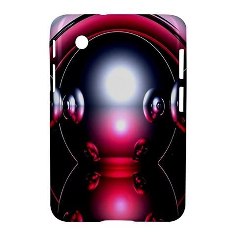 Red 3d  Computer Work Samsung Galaxy Tab 2 (7 ) P3100 Hardshell Case