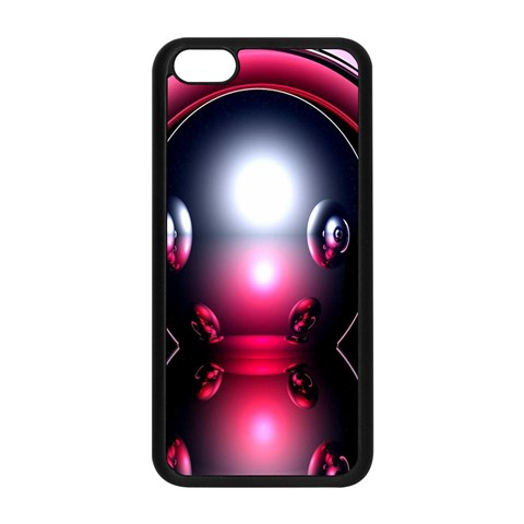 Red 3d  Computer Work Apple iPhone 5C Seamless Case (Black)