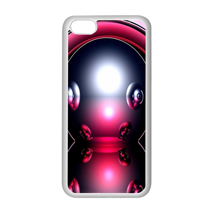 Red 3d  Computer Work Apple iPhone 5C Seamless Case (White)