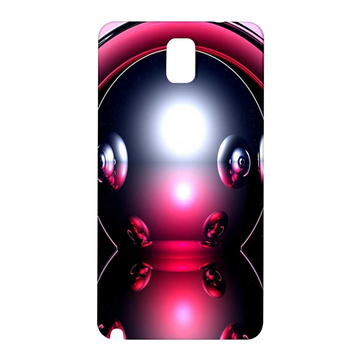 Red 3d  Computer Work Samsung Galaxy Note 3 N9005 Hardshell Back Case