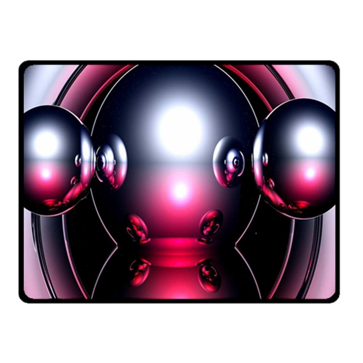Red 3d  Computer Work Double Sided Fleece Blanket (Small)
