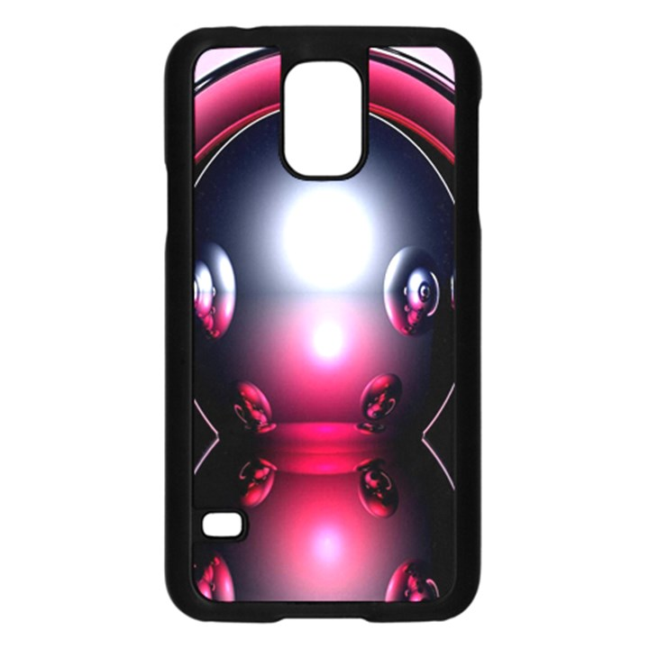 Red 3d  Computer Work Samsung Galaxy S5 Case (Black)