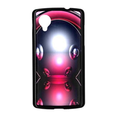 Red 3d  Computer Work Nexus 5 Case (Black)