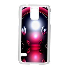 Red 3d  Computer Work Samsung Galaxy S5 Case (White)
