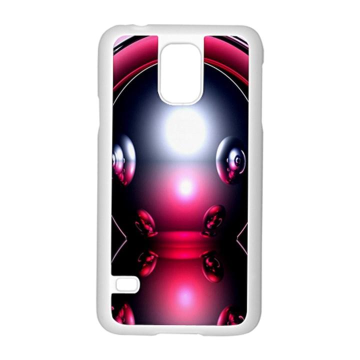 Red 3d  Computer Work Samsung Galaxy S5 Case (White)