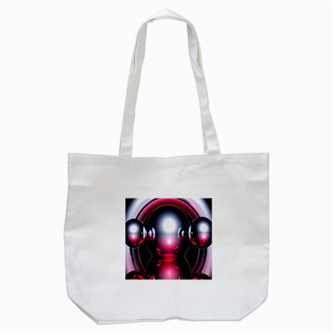 Red 3d  Computer Work Tote Bag (White)