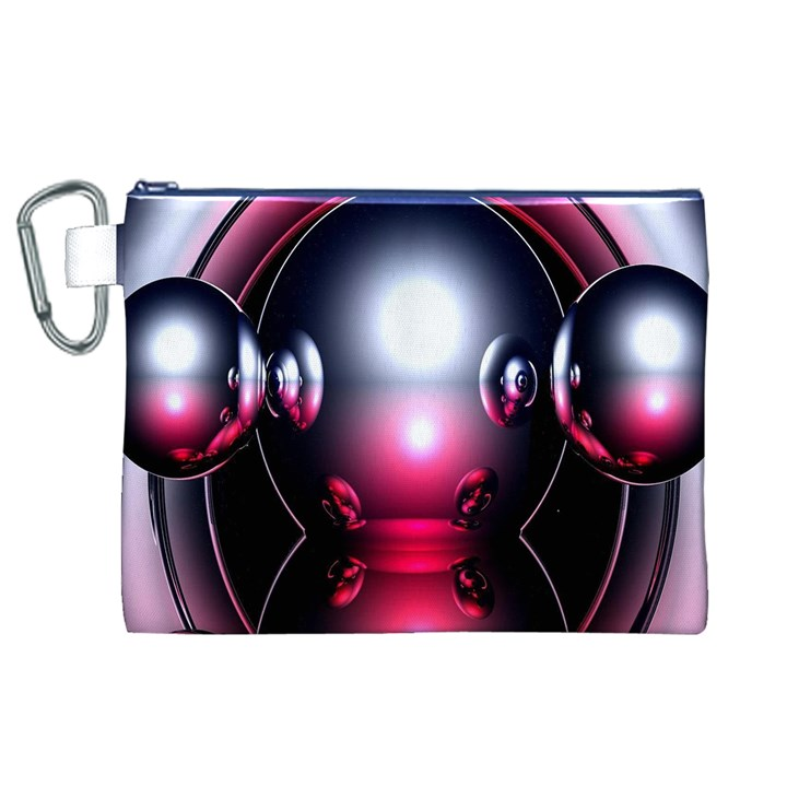 Red 3d  Computer Work Canvas Cosmetic Bag (XL)
