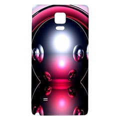 Red 3d  Computer Work Galaxy Note 4 Back Case