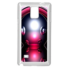 Red 3d  Computer Work Samsung Galaxy Note 4 Case (White)