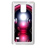 Red 3d  Computer Work Samsung Galaxy Note 4 Case (White) Front