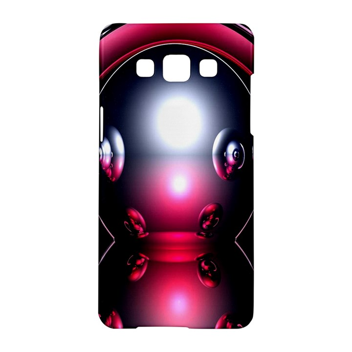 Red 3d  Computer Work Samsung Galaxy A5 Hardshell Case