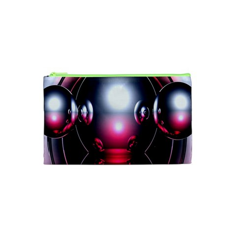 Red 3d  Computer Work Cosmetic Bag (XS)