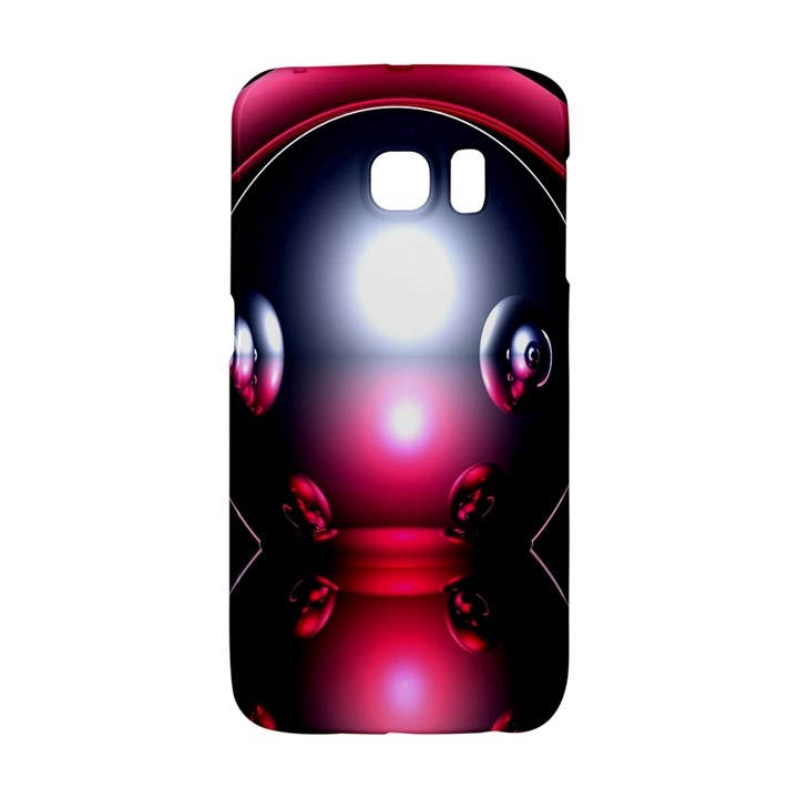 Red 3d  Computer Work Galaxy S6 Edge