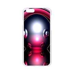 Red 3d  Computer Work Apple Seamless iPhone 6/6S Case (Transparent)