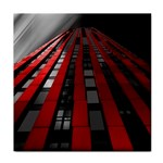 Red Building City Tile Coasters Front