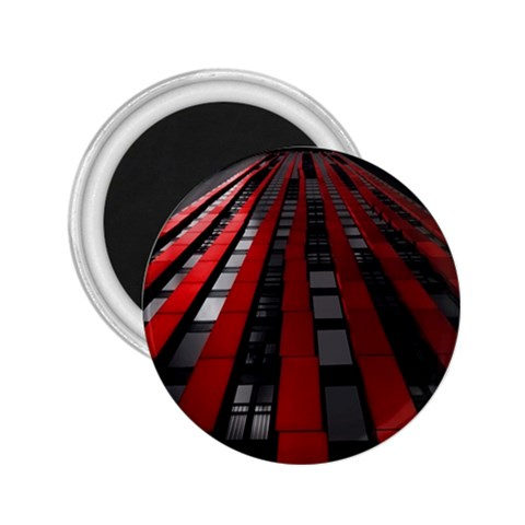 Red Building City 2.25  Magnets