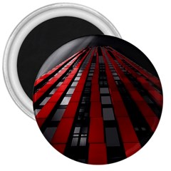 Red Building City 3  Magnets