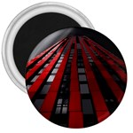 Red Building City 3  Magnets Front