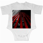 Red Building City Infant Creepers Front