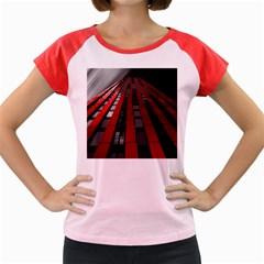 Red Building City Women s Cap Sleeve T-Shirt