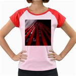 Red Building City Women s Cap Sleeve T-Shirt Front