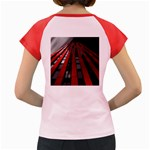 Red Building City Women s Cap Sleeve T-Shirt Back