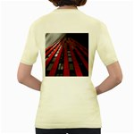 Red Building City Women s Yellow T-Shirt Back