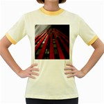 Red Building City Women s Fitted Ringer T-Shirts Front