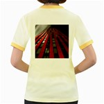 Red Building City Women s Fitted Ringer T-Shirts Back