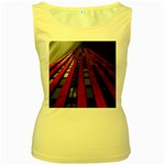 Red Building City Women s Yellow Tank Top Front