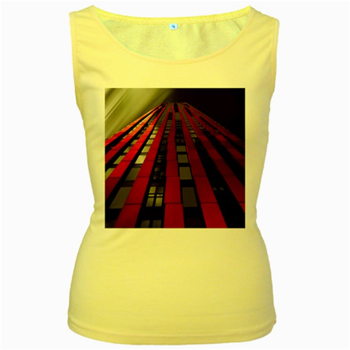 Red Building City Women s Yellow Tank Top