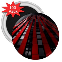 Red Building City 3  Magnets (100 pack)